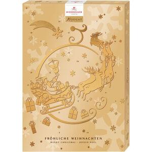 Niederegger Adventskalender Nougat gold, 500 g