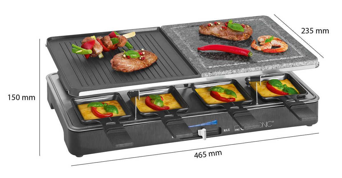 Bild 2 von CLATRONIC  Raclette-Grill mit heißem Stein