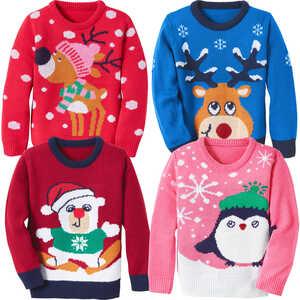 KUNIBOO®  Kleinkinder-Weihnachtspullover