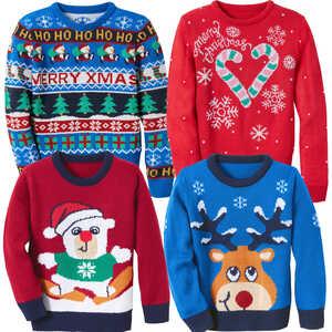 HIP&HOPPS®  Kinder-Weihnachtspullover mit LEDs