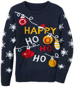 OYANDA®  Damen-Weihnachtspullover mit LEDs