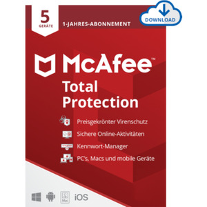 McAfee Total Protection 5 Geräte 1-Jahres-Lizenz