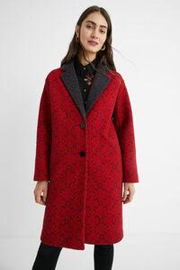 Langer Mantel mit Bordüren