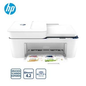 DeskJet 4130 · bis zu 8,5 Seiten/Min in Schwarz, bis zu 5,5 Seiten/Min in Farbe · High-Speed USB 2.0 · einfaches drucken von Ihrem mobilen Gerät  *Logos: Icon_3in1_Drucker + Icon_WIFI_Print + Ico