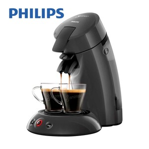 Kaffee-Padautomat HD 6553/59 Original • fu?r 1 - 2 Tassen/Becher • Crema Plus fu?r eine feine, samtige Crema • Kaffee-Boost fu?r intensiveren Geschmack
