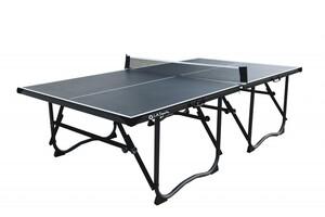 L.A. Sports Tischtennisplatte 4-fach faltbar mit Rollen & Netzgarnitur