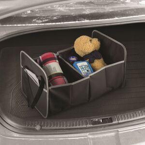 Kofferraumtasche mit 2 Fächern Schwarz