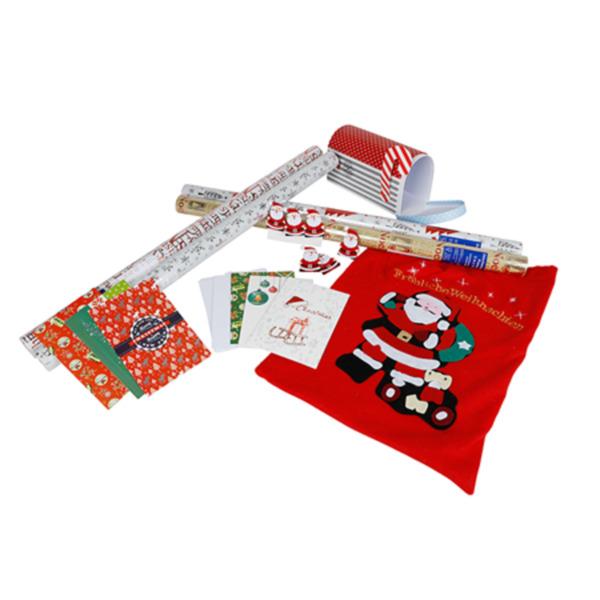 Set Weihnachtsgeschenke verpacken