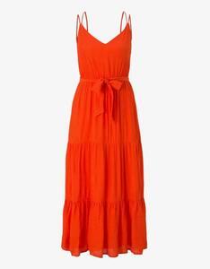 Tom Tailor - Maxi-Träger-Kleid mit Volants und Struktur