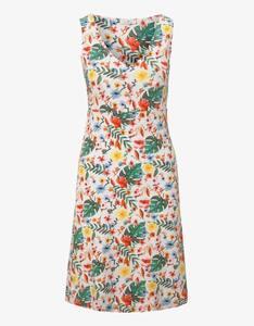 Tom Tailor - Jersey-Kleid mit floralem Druck und V-Ausschnitt
