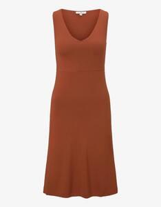 Tom Tailor - Jersey-Kleid mit tiefem V-Ausschnitt