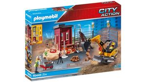 PLAYMOBIL 70443 - City Action - Minibagger mit Bauteil