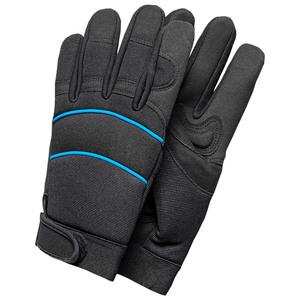Kraft Werkzeuge Profi-Winter-Arbeitshandschuhe, Größe 8 - Schwarz/Blau