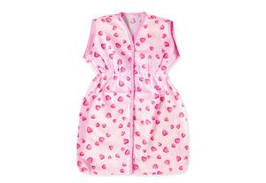 Pinolino Puppenschlafsack Herzchen, rosa