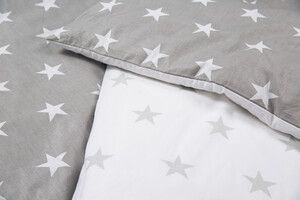 roba Bettwäsche 2-tlg 'Little Stars', 100x135 cm, 100% Baumwolle, Decken-& Kissenbezug