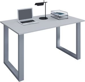 VCM Schreibtisch Lona 140x80 U-Fußgestell grau/silber