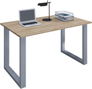 VCM Schreibtisch Lona 110x80 U-Fußgestell Sonoma-Eiche/silber