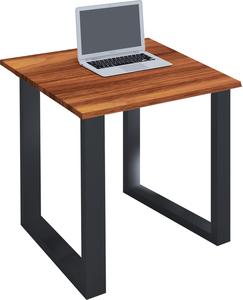 VCM Schreibtisch Lona 80x80 U-Fußgestell Kern-Nussbaum/schwarz