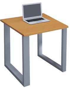 VCM Schreibtisch Lona 80x80 U-Fußgestell Buche/silber