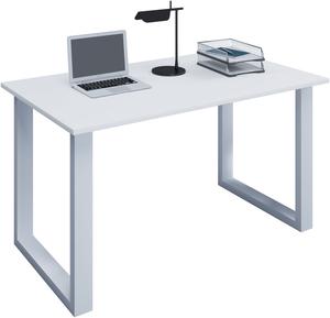 VCM Schreibtisch Lona 140x50 U-Fußgestell weiß/weiß
