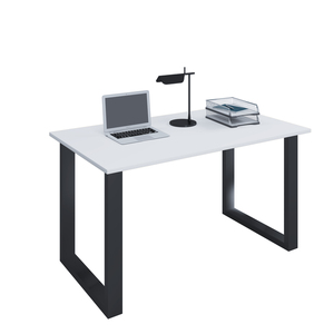 VCM Schreibtisch Lona; 140x50 U-Fußgestell weiß/schwarz