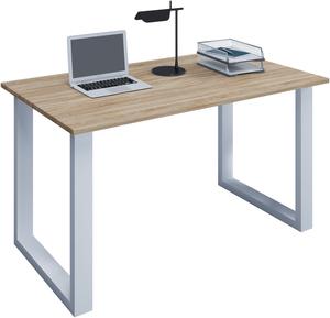 VCM Schreibtisch Lona 110x50 U-Fußgestell Sonoma-Eiche/weiß