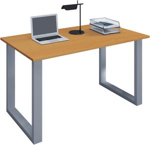 VCM Schreibtisch Lona 110x50 U-Fußgestell Buche/silber
