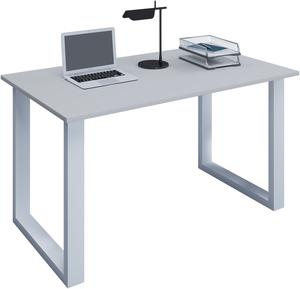 VCM Schreibtisch Lona 80x50 U-Fußgestell grau/weiß