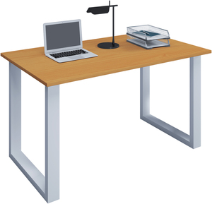 VCM Schreibtisch Lona 80x50 U-Fußgestell Buche/weiß