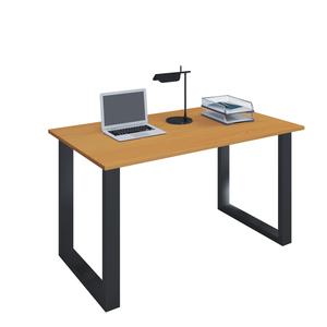 VCM Schreibtisch Lona 80x50 U-Fußgestell Buche/schwarz