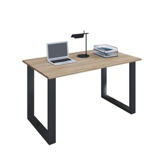 VCM Schreibtisch Lona 80x50 U-Fußgestell Sonoma-Eiche/schwarz