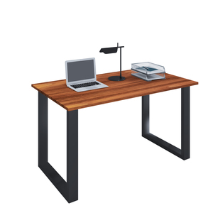 VCM Schreibtisch Lona 80x50 U-Fußgestell Kern-Nussbaum/schwarz