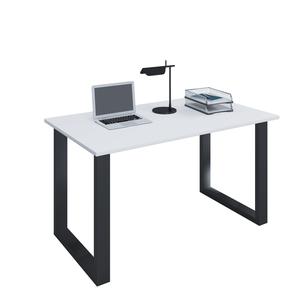 VCM Schreibtisch Lona 80x50 U-Fußgestell weiß/schwarz