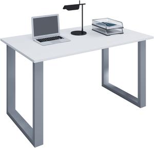 VCM Schreibtisch Lona 80x50 U-Fußgestell weiß/silber