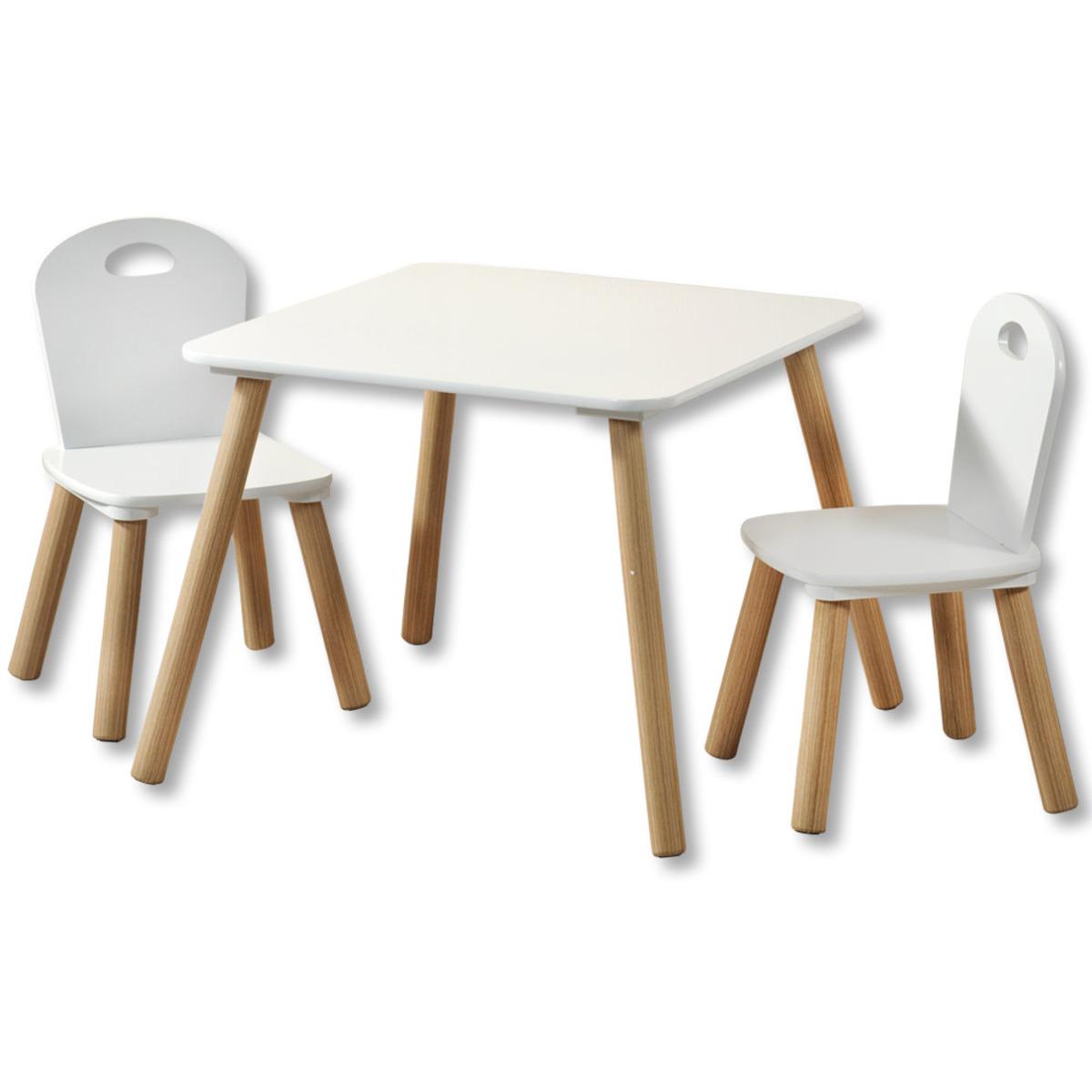 Bild 2 von Kesper Kindertisch mit 2 Stühlen, weiß - 3er Set