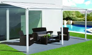 HC Home & Living Terrassenüberdachung 434 x 303 x 258 cm - Weiss
