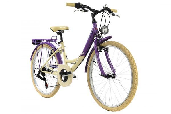 KS Cycling Kinderfahrrad 24'' Kahuna beige-lila RH 36 cm