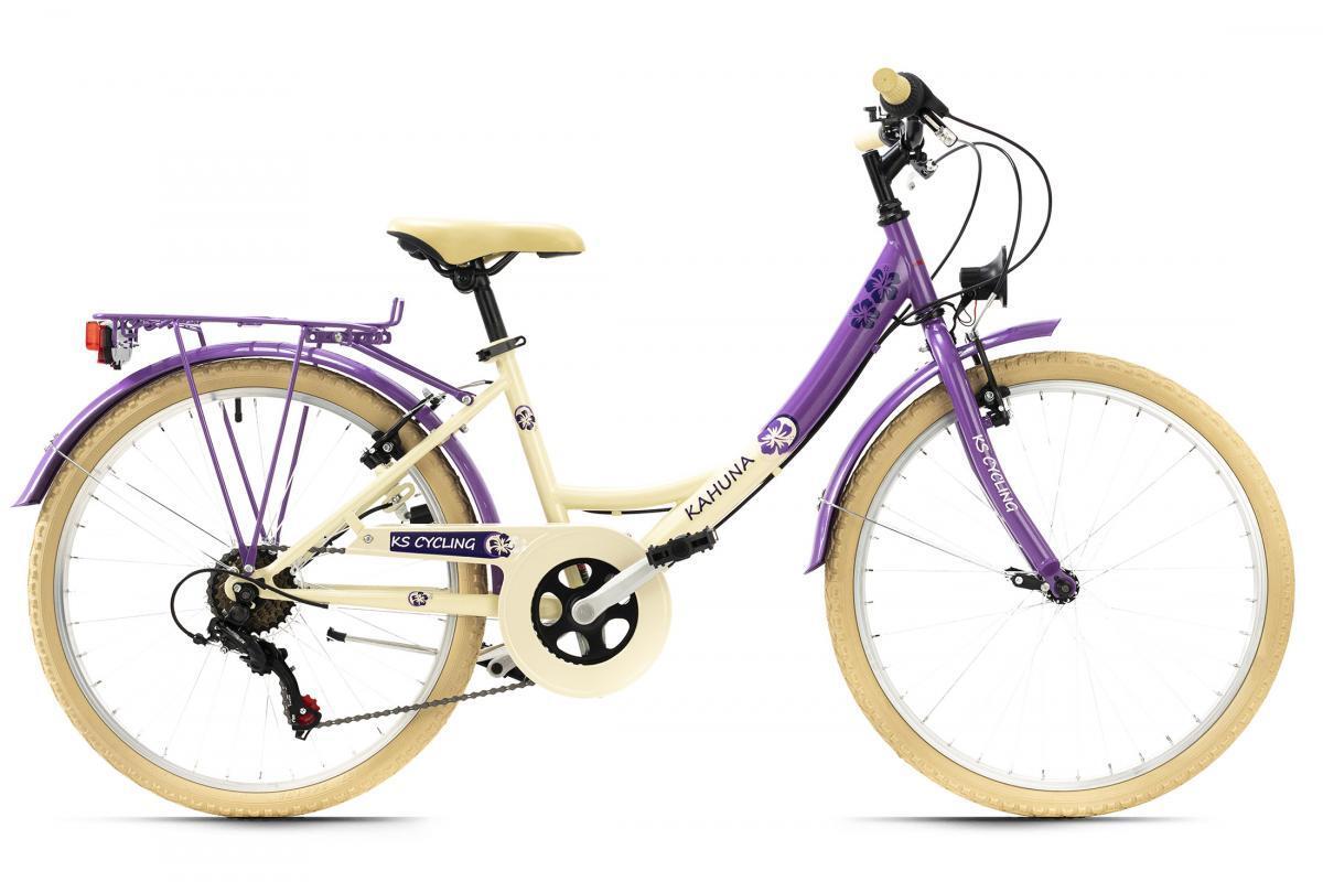 Bild 2 von KS Cycling Kinderfahrrad 24'' Kahuna beige-lila RH 36 cm