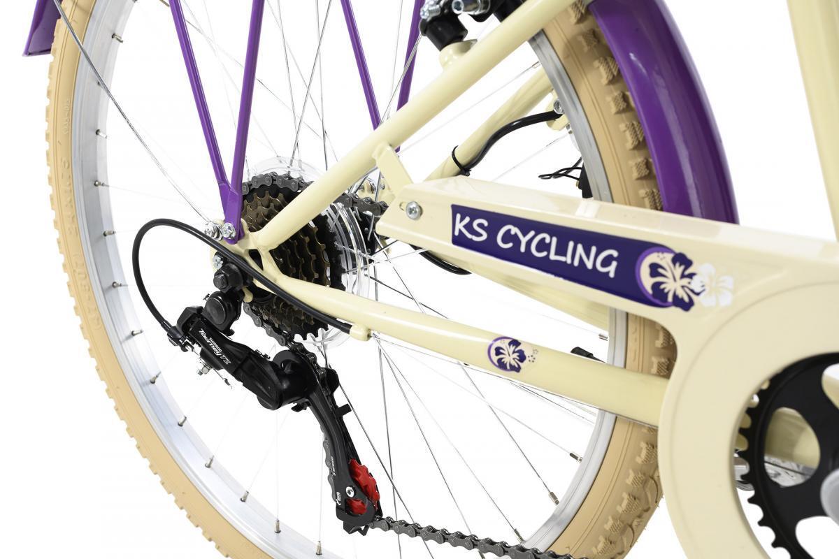 Bild 4 von KS Cycling Kinderfahrrad 24'' Kahuna beige-lila RH 36 cm