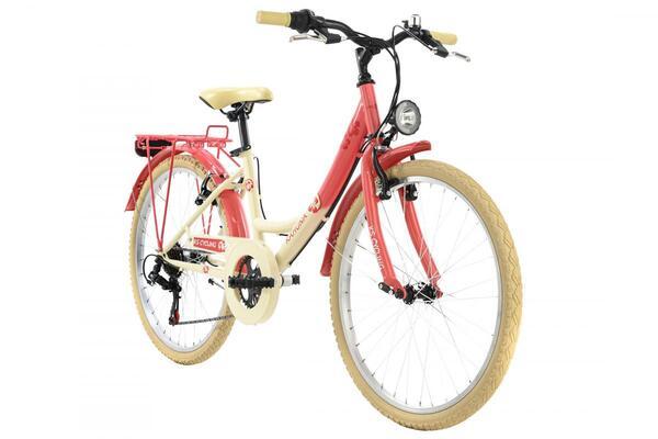 KS Cycling Kinderfahrrad 24'' Kahuna beige-rot RH 36 cm