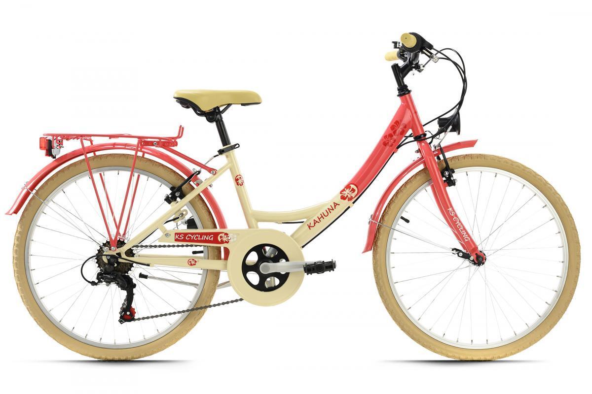 Bild 2 von KS Cycling Kinderfahrrad 24'' Kahuna beige-rot RH 36 cm
