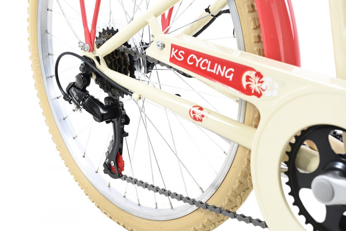 Bild 4 von KS Cycling Kinderfahrrad 24'' Kahuna beige-rot RH 36 cm