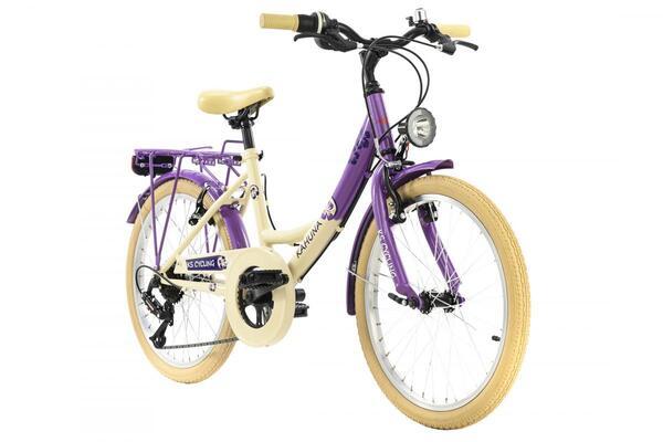 KS Cycling Kinderfahrrad 20'' Kahuna beige-lila RH 34 cm