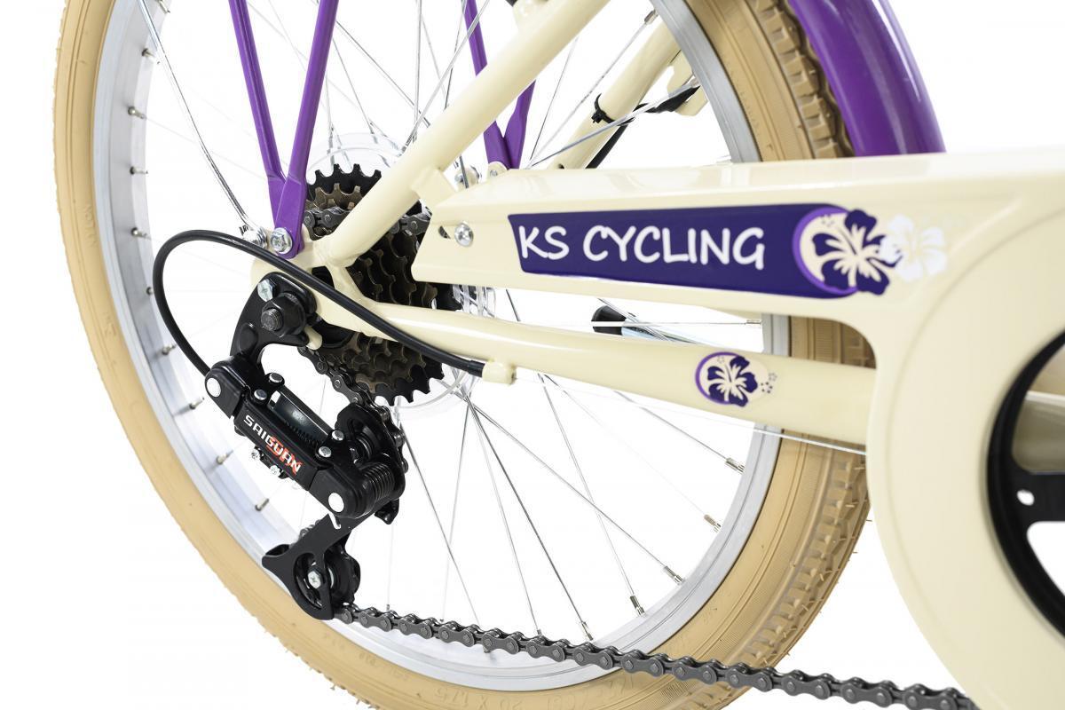 Bild 4 von KS Cycling Kinderfahrrad 20'' Kahuna beige-lila RH 34 cm