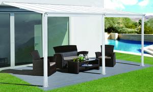 HC Home & Living Terrassenüberdachung 495 x 303 x 258 cm - Weiss