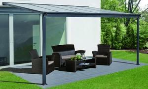 HC Home & Living Terrassenüberdachung 434 x 303 x 258 cm - Anthrazit