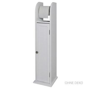 Toilettenpapier-Halter MDF in Weiß 18 x 20 x 79 cm