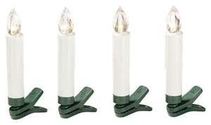 IDEENWELT LED-Weihnachtsbaumkerzen weiß