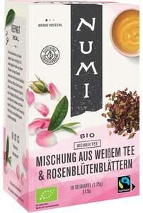 Numi Bio Weißer Tee Mischung aus Weißem Tee & Rosenblütenblättern