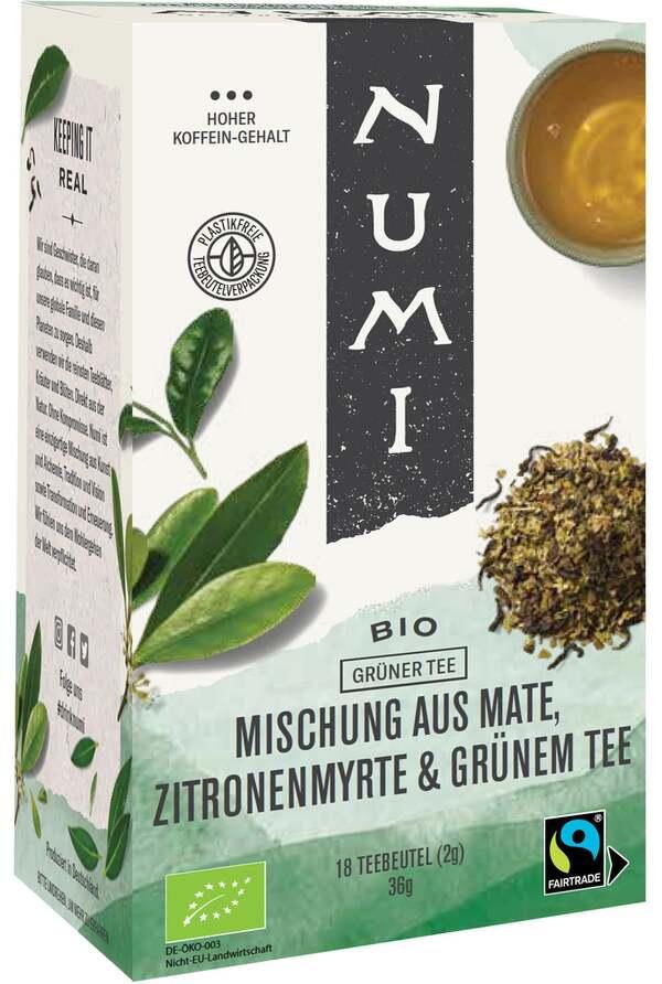 Numi Bio Grüner Tee Mischung aus Mate, Zitronenmyrte & Grünem Tee